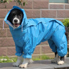 Big Dog Raincoat Pet Clothes Oberlo Turquoise 12