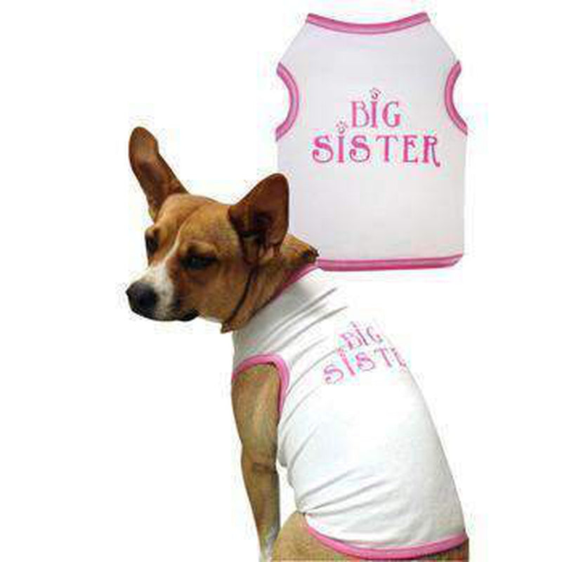 Big Sister Cotton Dog Tank Top, Pet Clothes, Furbabeez, [tag]