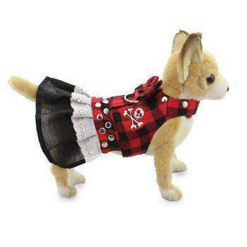 Biker Dress Dog Harness by Doggles - Buffalo Plaid, Collars and Leads, Furbabeez, [tag]