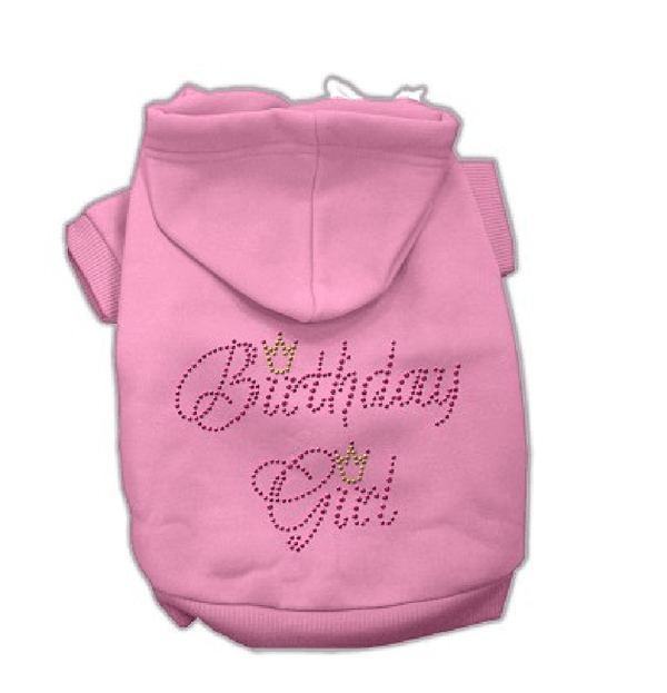 Birthday Girl Dog Hoodie - Pink, Pet Clothes, Furbabeez, [tag]