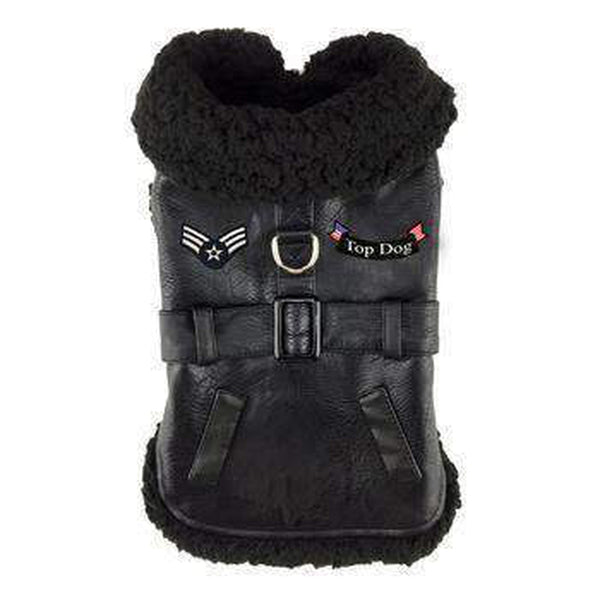 Black Top Dog Flight Coat, Pet Clothes, Furbabeez, [tag]