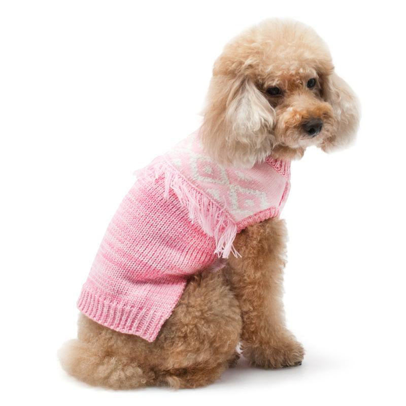 Boho Fringe Dog Sweater Pet Clothes DOGO