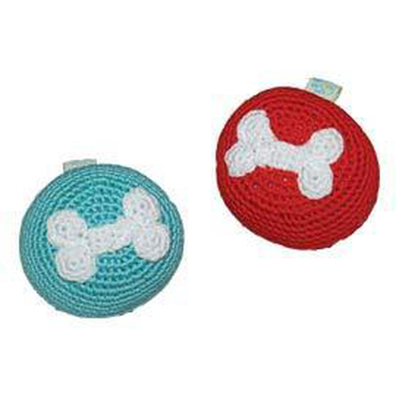 Bone Ball Knit Dog Toy, Pet Toys, Furbabeez, [tag]