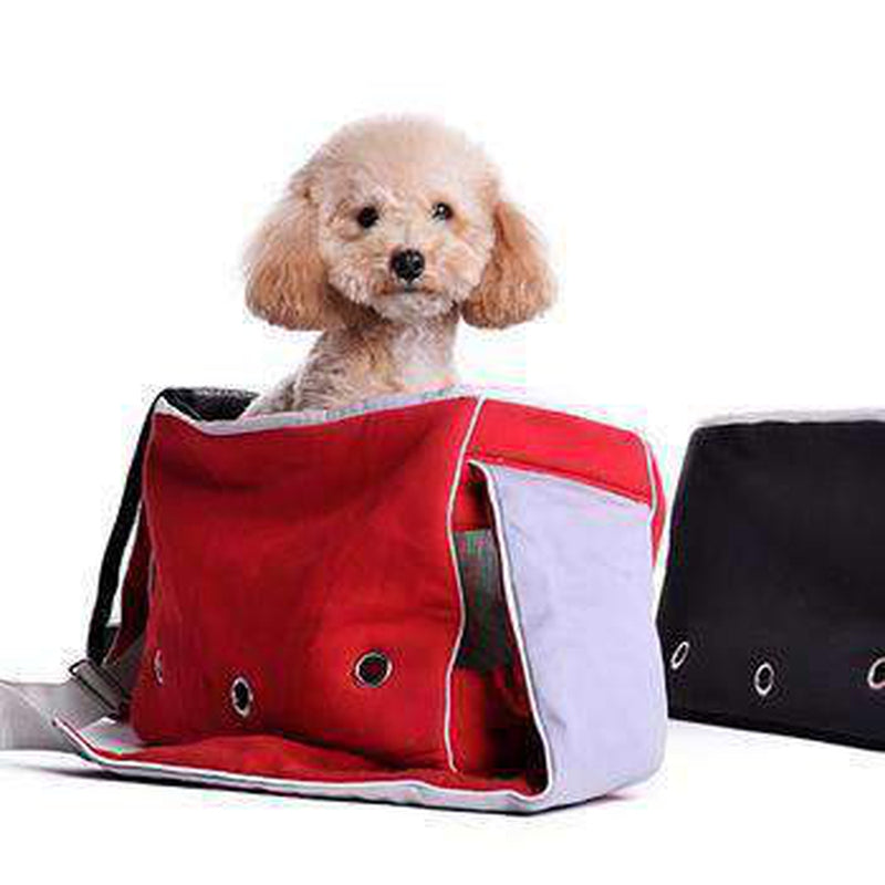 Boxy Messenger Bag Dog Carrier, Pet Accessories, Furbabeez, [tag]