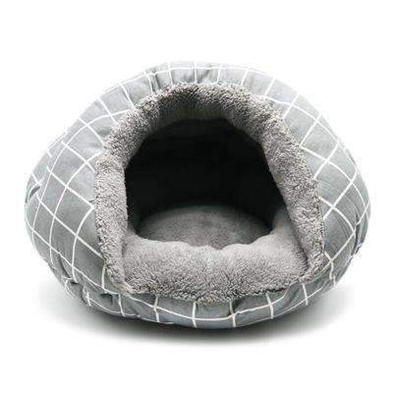 Burger Bed Gray Lattice, Pet Bed, Furbabeez, [tag]
