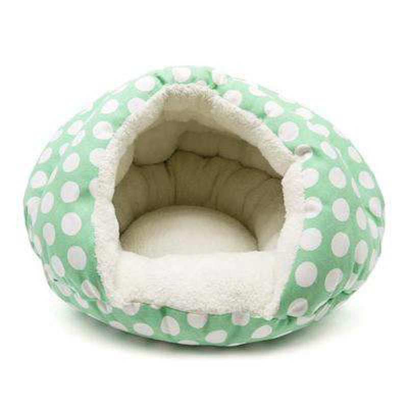 Burger Bed Polka Dot Green, Pet Bed, Furbabeez, [tag]