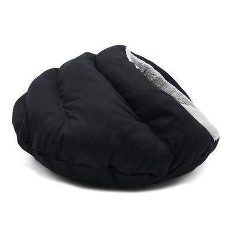 Burger Bed Solid Black, Pet Bed, Furbabeez, [tag]