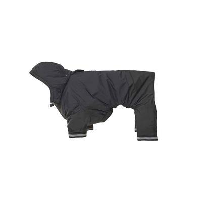 BUSTER Aqua Dog Raincoat Pet Clothes Kruuse Black XX-Small