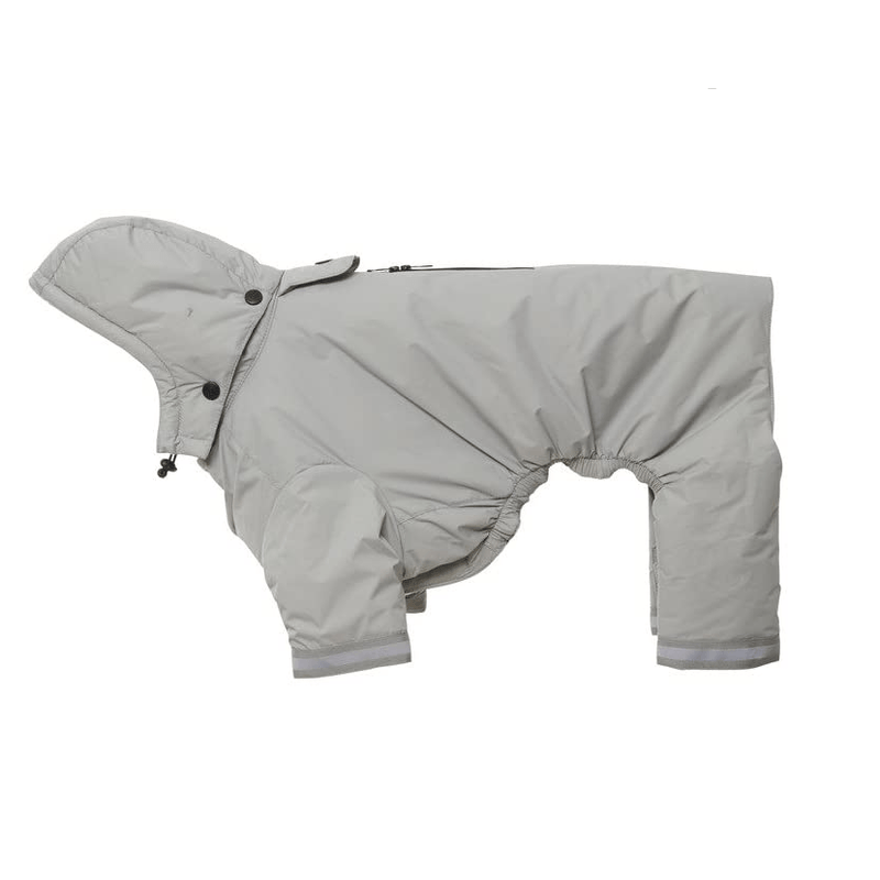 BUSTER Aqua Dog Raincoat Pet Clothes Kruuse Grey XX-Small