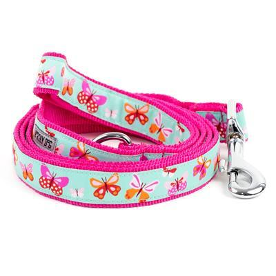"Butterflies Collar & Lead Collection Collars and Leads Worthy Dog SM 5/8"" Lead"