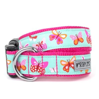 Butterflies Collar & Lead Collection Collars and Leads Worthy Dog XS Dog Collar