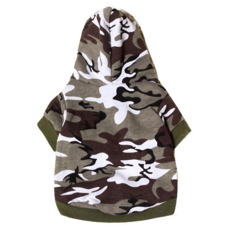 Camo Dog Hoodie - Green, Pet Clothes, Furbabeez, [tag]
