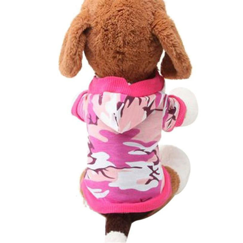 Camo Dog Hoodie - Pink, Pet Clothes, Furbabeez, [tag]
