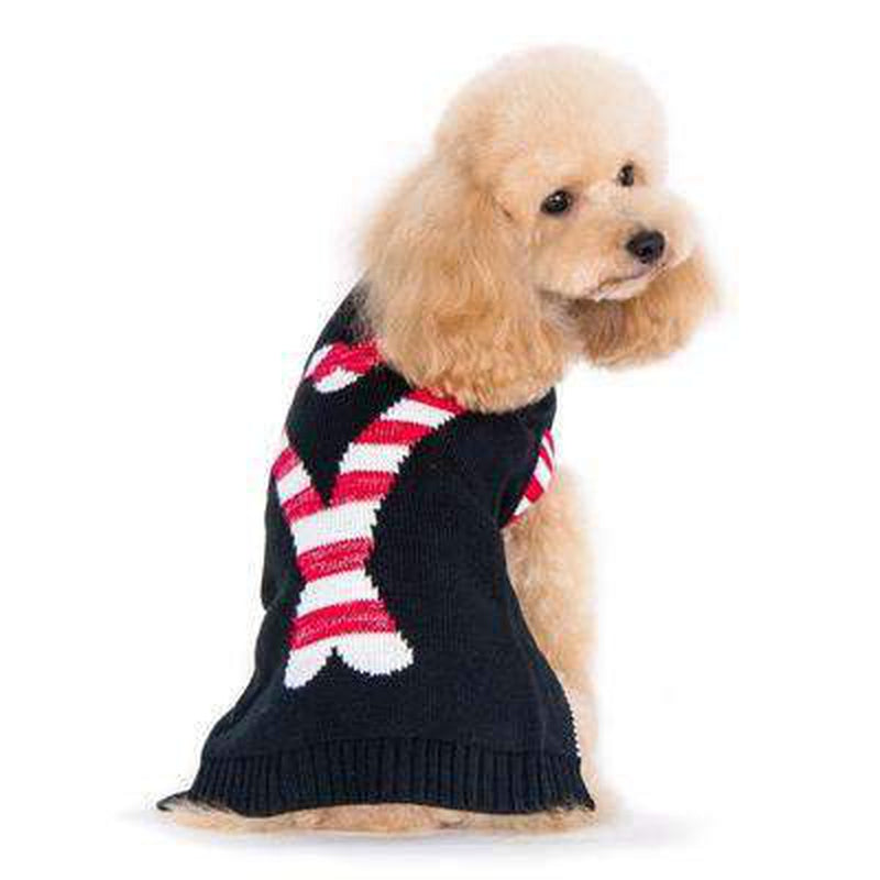 Candy Cane Dog Sweater, Pet Clothes, Furbabeez, [tag]