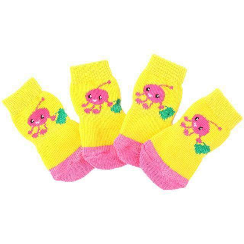 Cartoon Anti-Slip Dog Socks, Pet Clothes, Furbabeez, [tag]