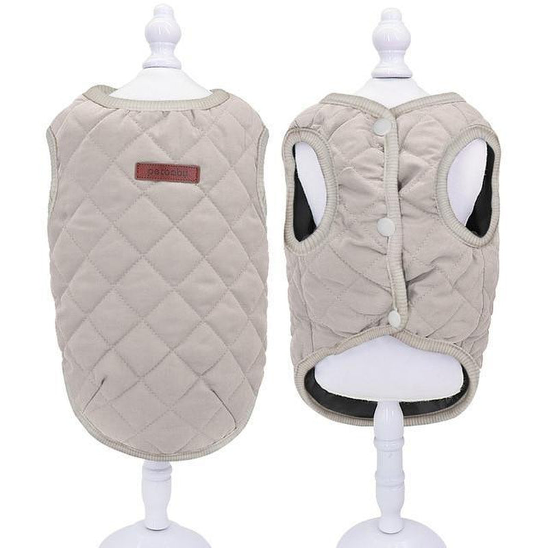 Casual Quilted Dog Vest Pet Clothes Oberlo Beige 2XL