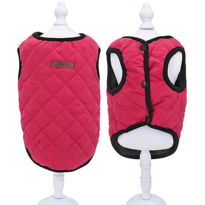 Casual Quilted Dog Vest Pet Clothes Oberlo Red 2XL