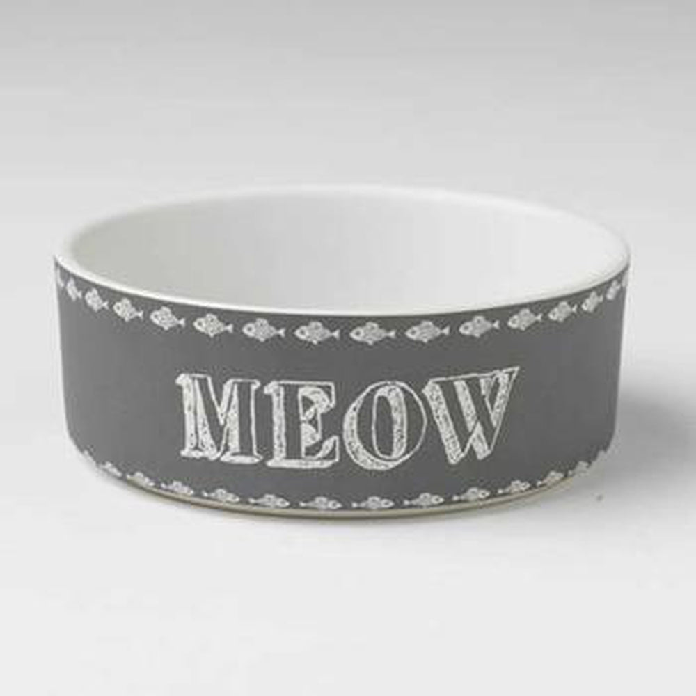 Chalk It Up Meow Cat Bowl, Pet Bowls, Furbabeez, [tag]