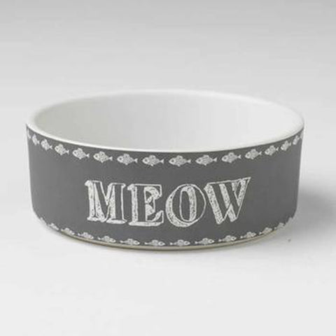 Chalk It Up Meow Cat Bowl, Pet Bowls, Pet Retail Supply, Furbabeez