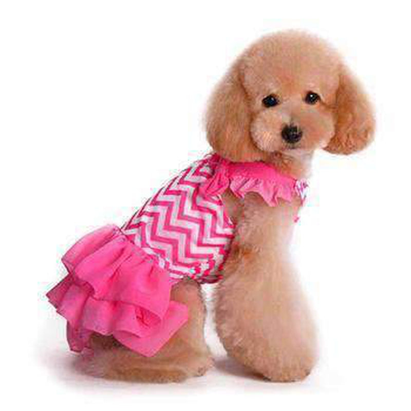 Chevron Dog Dress, Pet Clothes, Furbabeez, [tag]