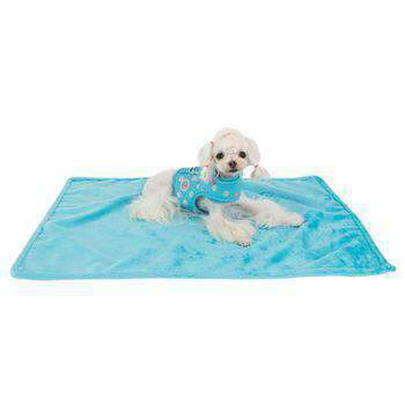 Chic Dog Blanket by Pinkaholic - Blue, Pet Bed, Furbabeez, [tag]