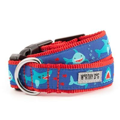 Chomp Shark Collar & Lead Collection Collars and Leads Worthy Dog XS Dog Collar
