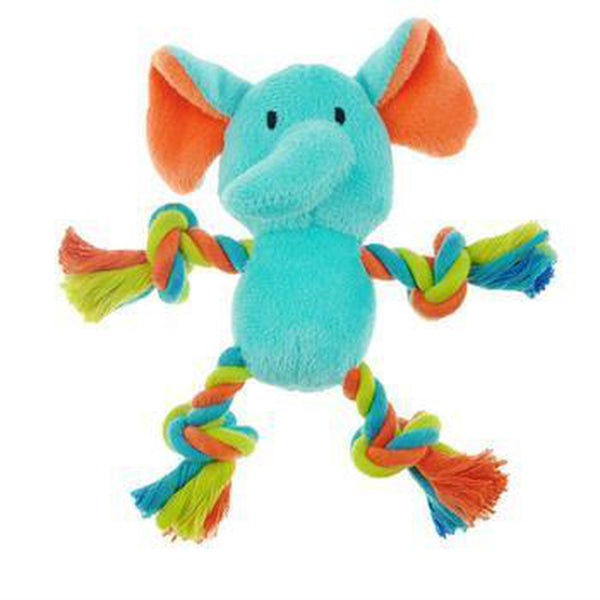 Chomper Mini Safari Tug Me Dog Toy - Elephant, Pet Toys, Furbabeez, [tag]