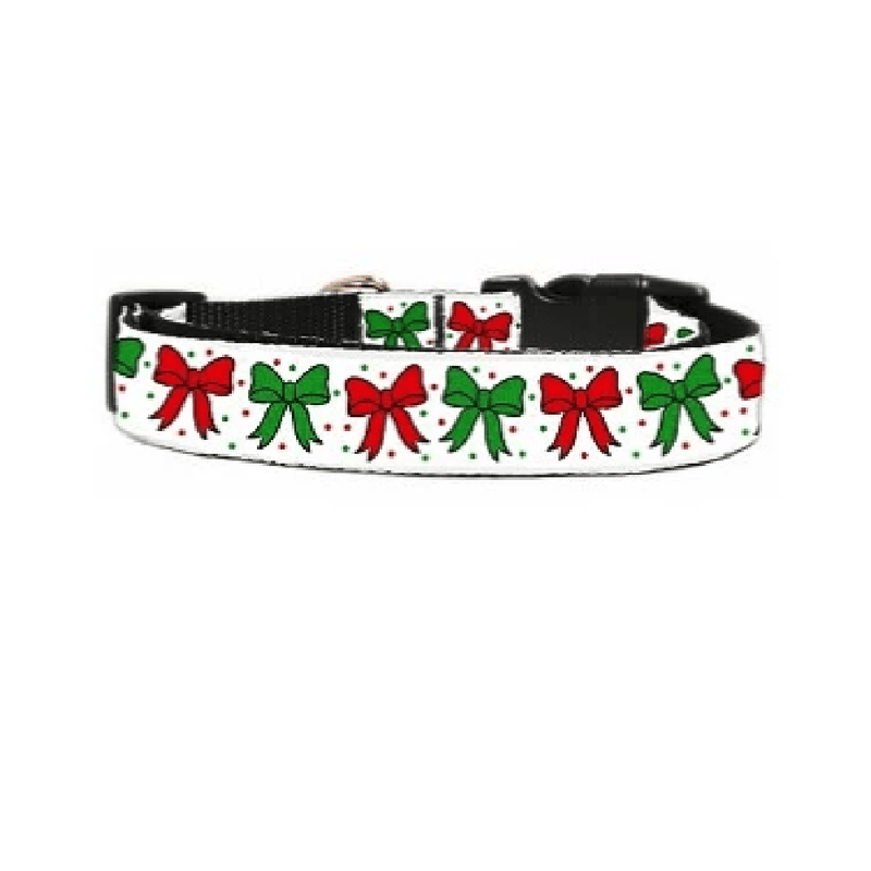 Christmas Bows Dog Collar & Leash, Collars and Leads, Furbabeez, [tag]