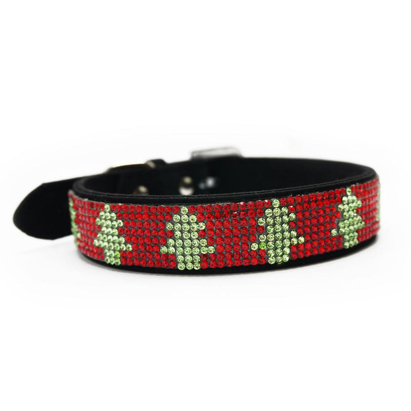 Christmas Tree Festive Bling Collar, Collars and Leads, Furbabeez, [tag]