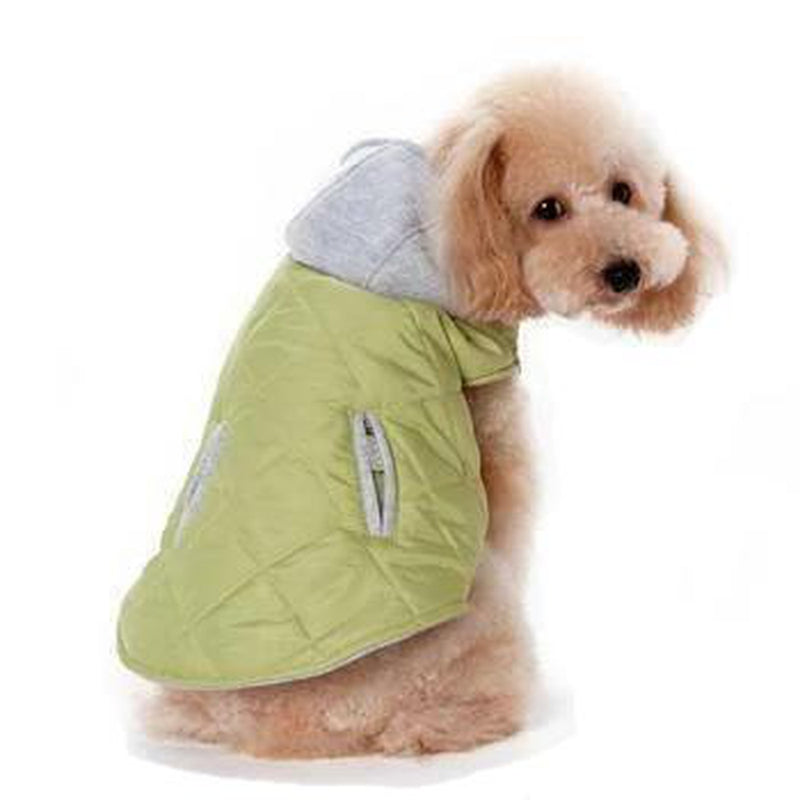 City Puffer Dog Jacket by Dogo - Green, Pet Clothes, Furbabeez, [tag]