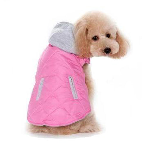 City Puffer Dog Jacket - Pink, Pet Clothes, Pet Retail Supply, Furbabeez