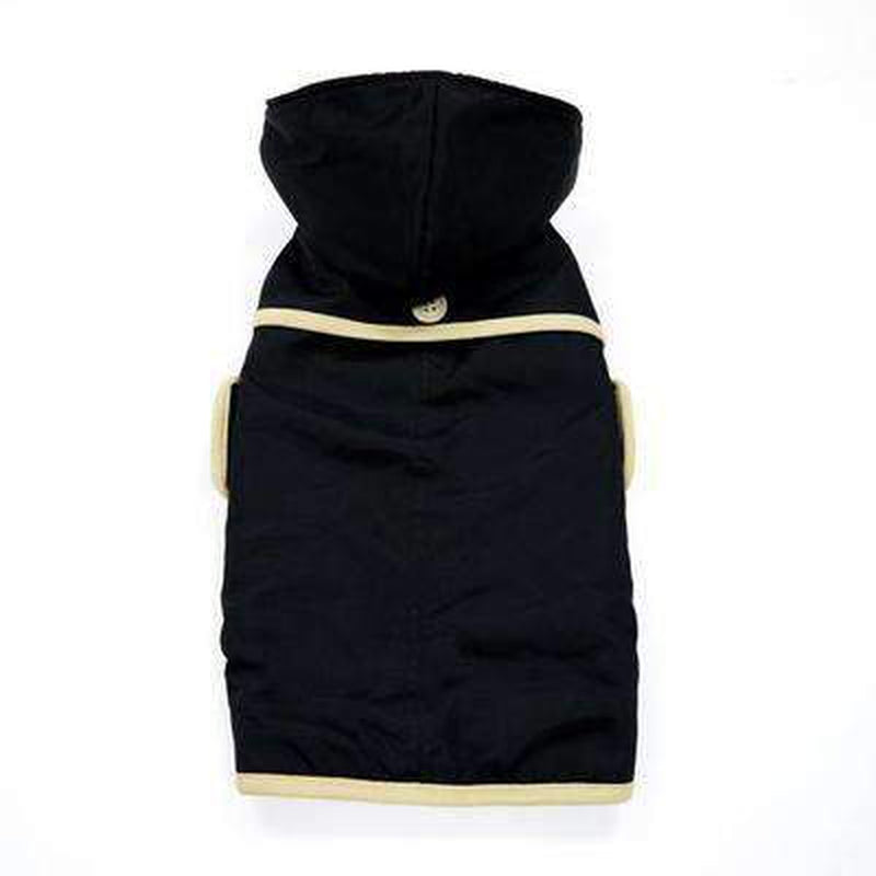 Classic Trench Dog Coat - Black, Pet Clothes, Furbabeez, [tag]