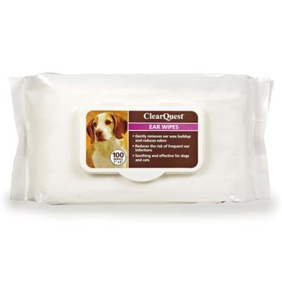 ClearQuest Pet Ear Wipes Pet Accessories ClearQuest 100 pack