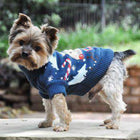 Reindeer Combed Cotton Ugly Holiday Dog Sweater, Pet Clothes, Furbabeez, [tag]