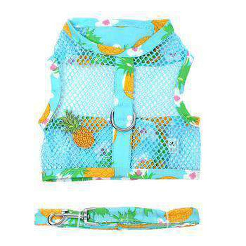 Cool Mesh Dog Harness with Leash - Pineapple Luau, Collars and Leads, Furbabeez, [tag]