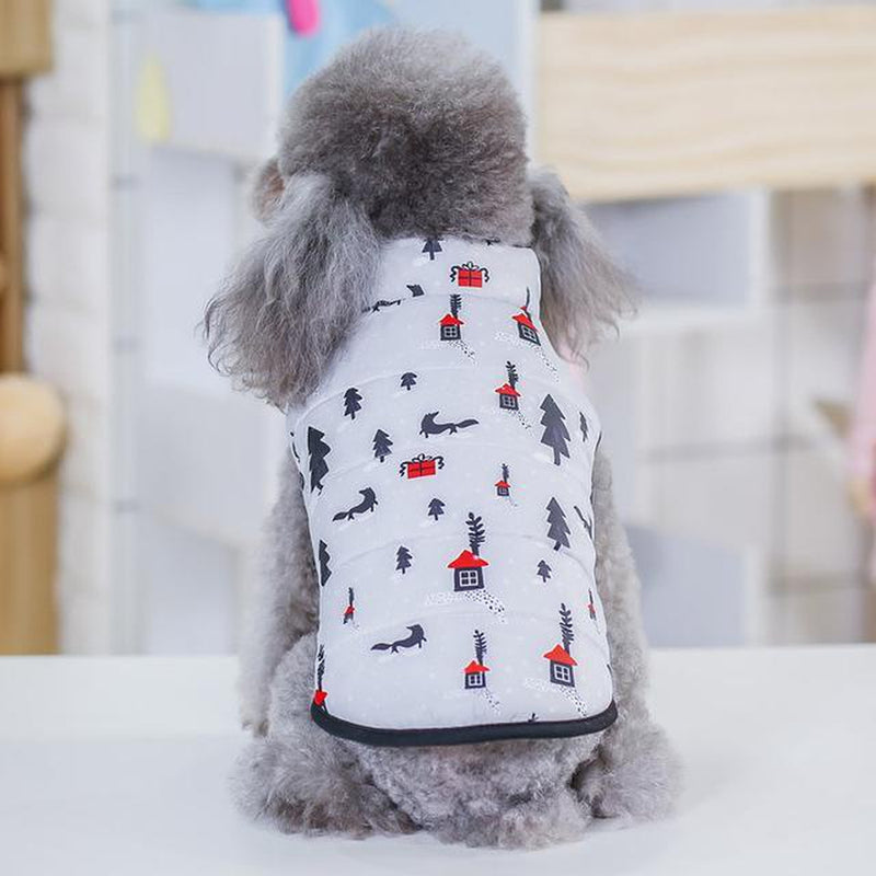 Cool Print Dog Puffer Vest Pet Clothes Oberlo Gray XL