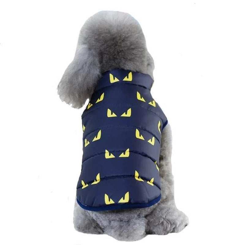 Cool Print Dog Puffer Vest Pet Clothes Oberlo Yellow S