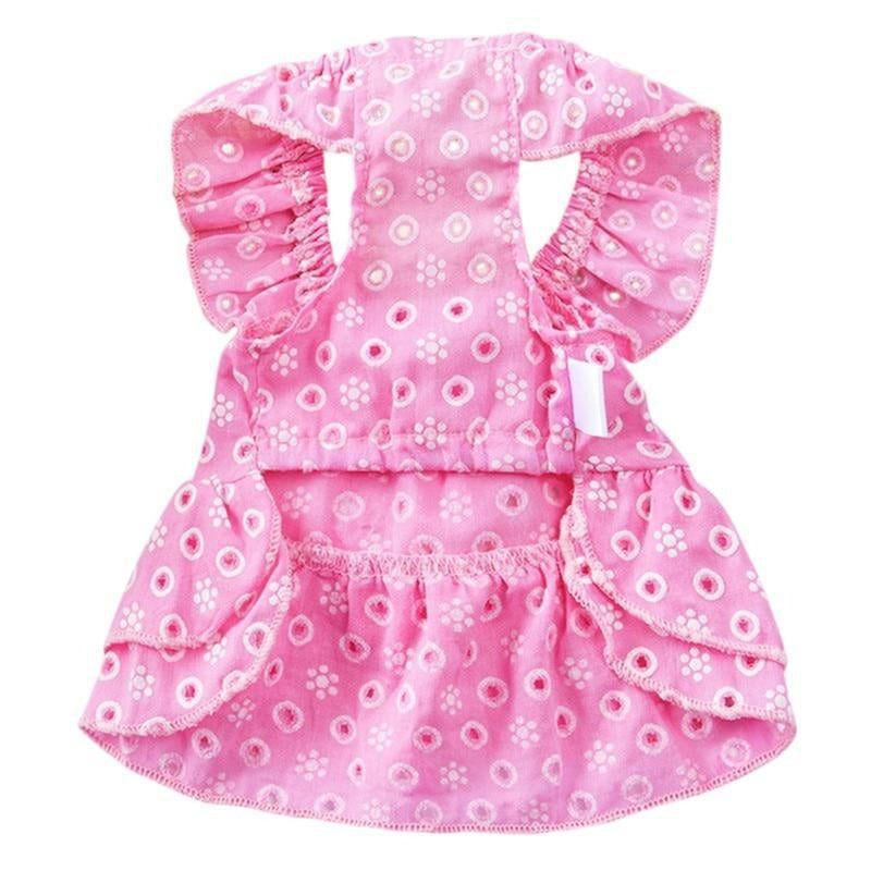 Country Dog Dress with ruffle skirt, Pet Clothes, Furbabeez, [tag]