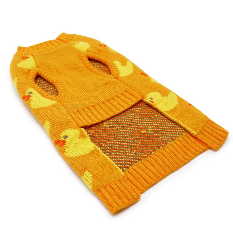 Cozy Duck Dog Sweater, Pet Clothes, Furbabeez, [tag]