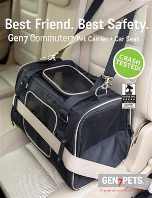 Crash Tested Gen7 Commuter™ Dog, Cat, Pet Carrier + Car Seat Pet Accessories Oberlo Black
