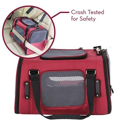 Crash Tested Gen7 Commuter™ Dog, Cat, Pet Carrier + Car Seat Pet Accessories Oberlo Red