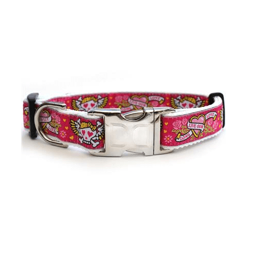 Custom Engraved Wild One Pink Dog Collar Collars and Leads Diva Dog