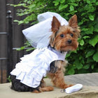 Dog Harness Wedding Dress with Veil and Matching Leash Pet Clothes Doggie Design