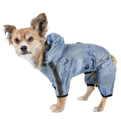 Dog Helios 'Torrential Shield' Waterproof Full Bodied Dog Raincoat Pet Clothes Helios Blue Medium