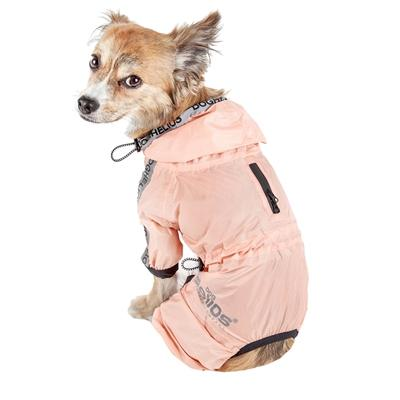 Dog Helios 'Torrential Shield' Waterproof Full Bodied Dog Raincoat Pet Clothes Helios Orange Medium
