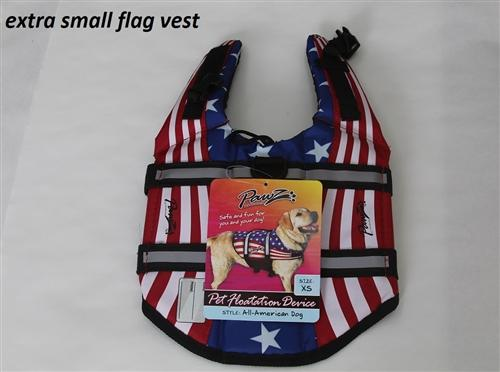 Dog Life Jacket - PAWZ Flag Pet Life Vest, Nylon Pet Preserver Pet Accessories Pawz Pet Products