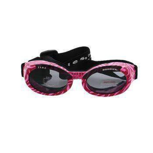 Doggles - ILS2 Pink Zebra Frame with Smoke Lens, Pet Accessories, Furbabeez, [tag]