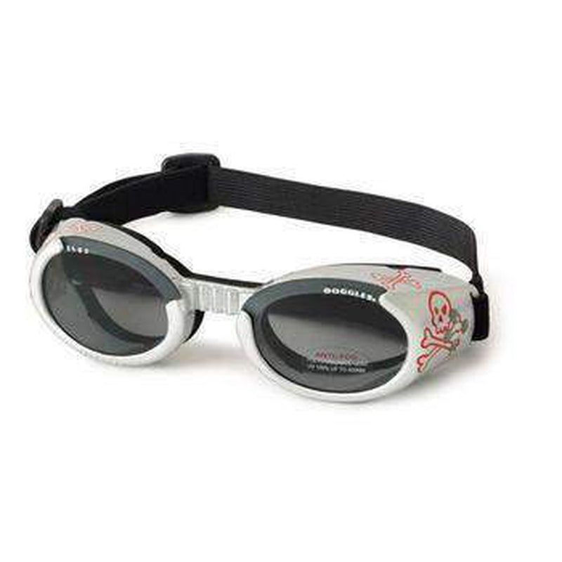 Doggles - ILS2 Silver Skull Frame with Light Smoke Lens, Pet Accessories, Furbabeez, [tag]