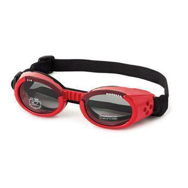 Doggles - ILS2 Shiny Red Frame with Smoke Lens, Pet Accessories, Furbabeez, [tag]