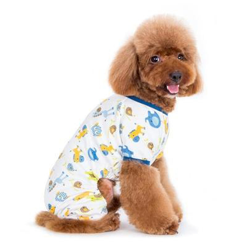 PJ Zoo Dog Pajamas - Blue, Pet Bed, Furbabeez, [tag]